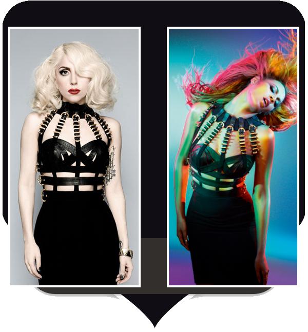 Lady Gaga & Beyoncé portent la même robe