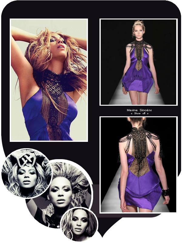 Beyoncé porte une robe de Maxime Simoëns