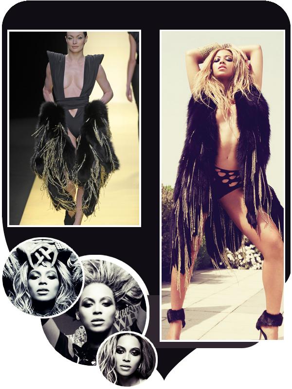 Beyoncé porte une fourrure  d'Alexandre Vauthier