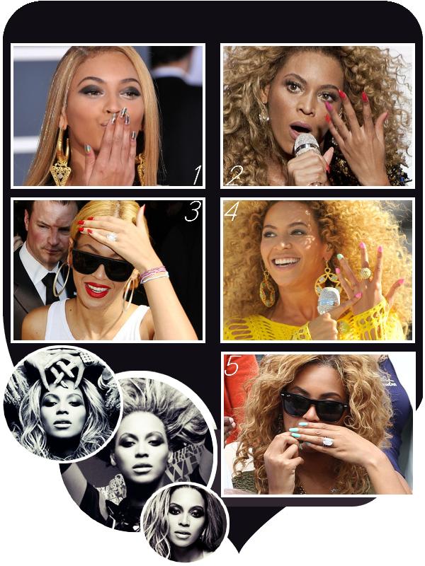 Beyoncé et ses ongles vernis