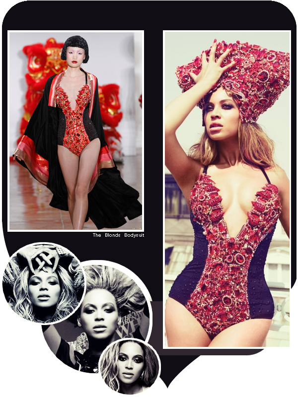 Beyoncé porte un body des créations The Blonds