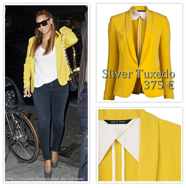 Beyoncé au match des Nets du New Jersey porte un blazer jaune à 375€