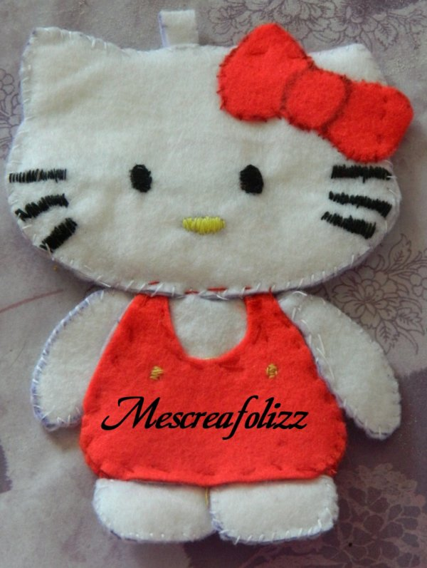 hello kitty feutrine pour ma princesse