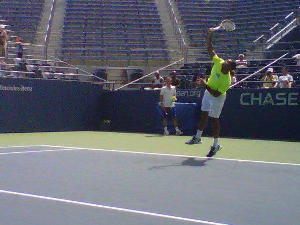 Jo à l'entraînement à l'US Open