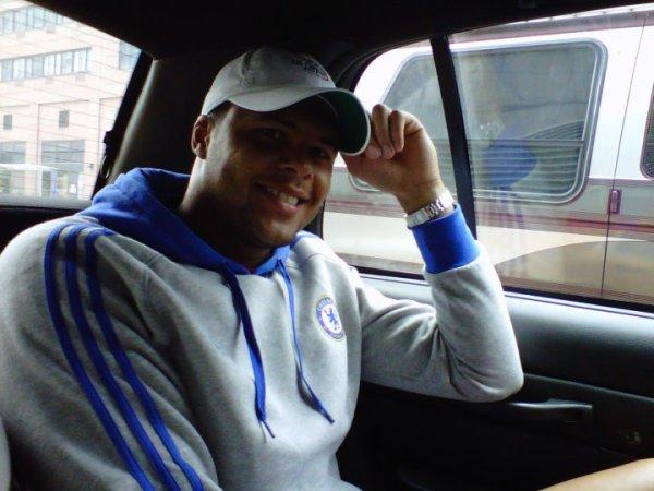 Jo dans le taxi à New-York