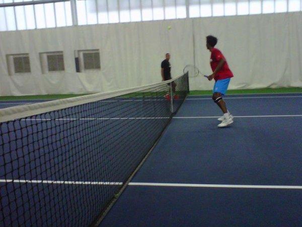 Jo à l'entraînement avec Gaël Monfils à l'US Open