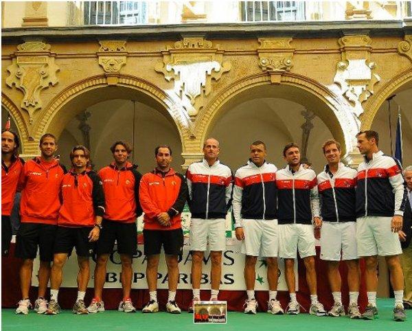 L'équipe de France et l'équipe d'Espagne à Cordoue