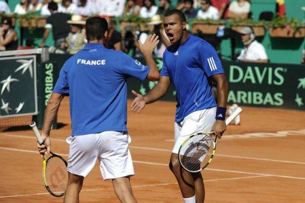 Coupe Davis : France - Espagne - 1/2 finale 2011 - Tsonga et Llodra