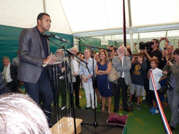 Jo était à Mont-Saint-Aignan ce mercredi 28 septembre à l'occasion de l'inauguration de plusieurs courts de tennis