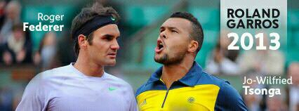 Jo-Wilfried Tsonga VS Roger Federer - 1/4 de finale de Roland Garros 2013
