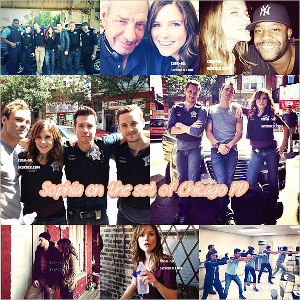 ▽ CHICAGO PD  ◭ Sophia se trouve actuellement à Chicago pour les besoins de sa nouvelle série, Chicago PD ! En effet, le tournage de la première saison a débuté depuis maintenant quelques semaines. Elle nous fait partager quelques photos de ce dernier en compagnie de ses nouveaux collègues. Découvrez également une vidéo qu'elle a posté sur son compte instagram ♥.