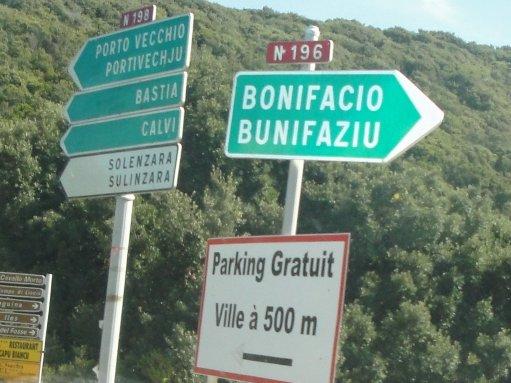 - 1 - arrivée à Bonifacio