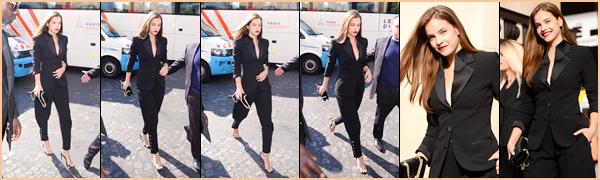____  « GEORGIO ARMANI » ---_ ● ---_   04/07/2017 :La belle Barbara Palvin à été vue arrivant au défilé de     «Georgio Armani»   à Paris Barbara  a posé sur le tapis rouge puis a assisté au fameux défilé de   Georgio Armani . coté  tenue ●   c'est un beau Top pour ma part !   __       '' __
