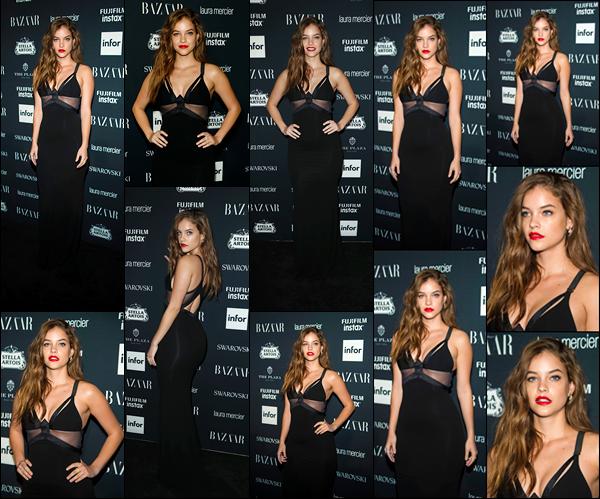 ____        08/09/2017 ¤ La belle  Barbara Palvin était présente lors de la soirée « Harper's Bazaar Icons », qui s'est tenue à  New-York City.        Nous retrouvons Barbara à cette soirée après une petite période d'absence  .Concernant la tenue,elle arborait une jolie robe noire . Top  !   __        __