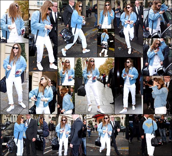 ____        28/09/2017   ¤ La sublime Barbara Palvin  , _a été photographiée dans les rues parisiennes   arborant une  tenue simple mais très belle   !  Traquée par les paparazzis  ,_ nous retrouvons notre sublime mannequin  Hongroise dans les  rues  parisiennes et nous offre un beau Top !  __        __