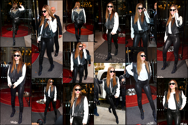 ____        28/09/2017 ¤ La sublime Barbara Palvin  , _a été photographiée dans les rues parisiennes   arborant une tenue Black & White   .Un Top!  Barbara   arborait enchaîne les top à Paris , c'est un vrai plaisir pour nos yeux   , c'est stylé et ça lui va à merveille.Votre avis sur sa tenue  ? __        __