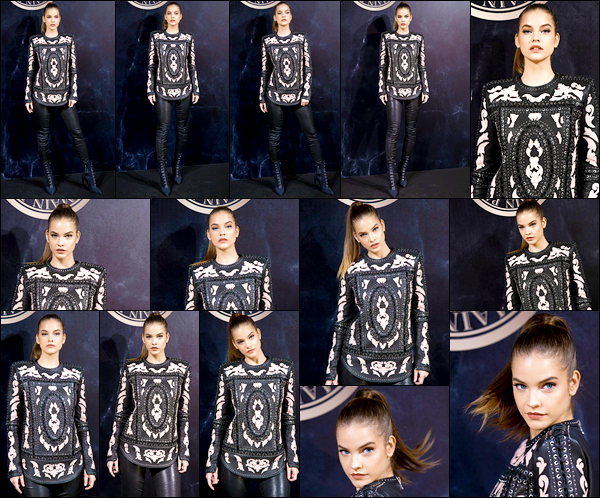 ____        28/09/2017   ¤Miss  Barbara Palvin était présente lors de la soirée« L'Oreal X Balmain »   qui s'est déroulée dans la capitale parisienne Barbara était aux cotés d'autres mannequins à la soirée du célèbre styliste Olivier Rousteing  .Qu'en  pensez-vous de ce look Top / Flop  ? __        __