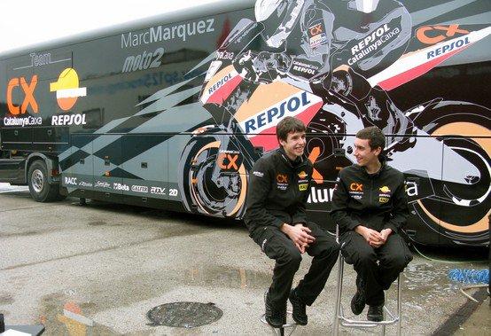 Alex Marquez y Alex Rins