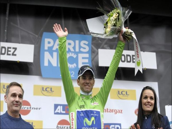 Alejandro Valverde maillot vert et 3 eme de Paris Nice devient le nouveau numero 1 mondial! Quel retour !!!