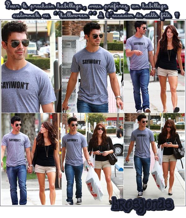 28/09/10  | C'est main dans la main que nous retrouvons Joe et Ashley dans les rues de L.A.   Et voilà le retour du couple « Jashley ». Perso' , j'ai encore de la difficulté à voir ces deux-là ensemble ...  :o