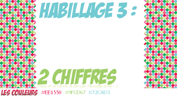 Pack #1 : 3 habillages.