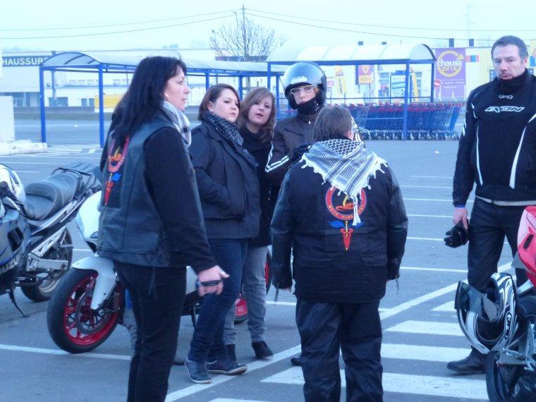 """1° journée nationale du motard -1: départ de loison sous lens aux aurores ,... """"à la fraiche!"""""""