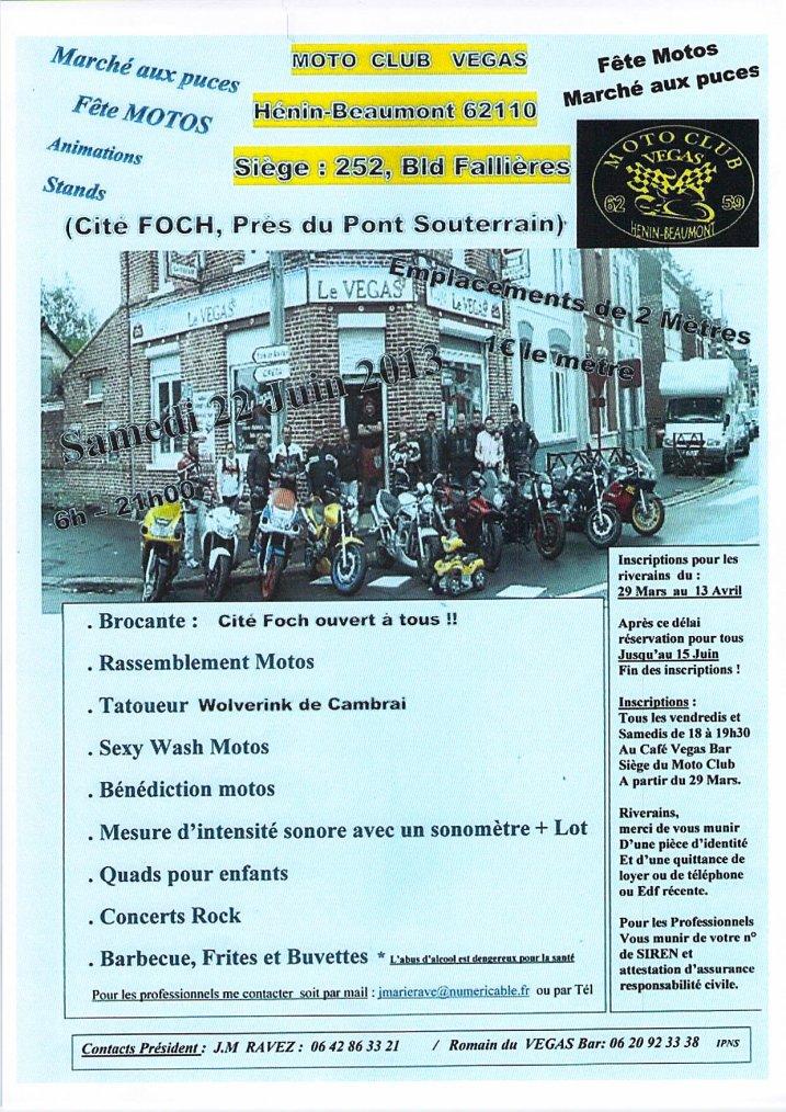 sorties du moto club Hospimoto de Lens les week end des 22 , 29 juin ,et 7/7/13