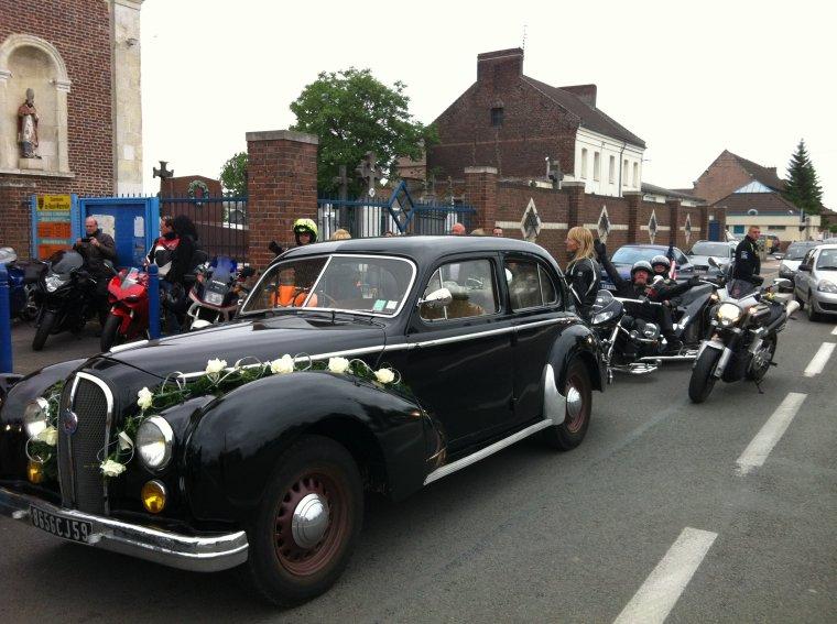 sortie du S 22/06/2013 : mariage motard à Roost Warendin et