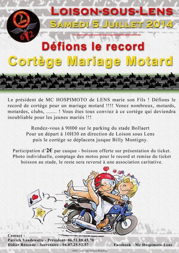 cortege samedi 5/7/2014 à Bollaert dès 9h00