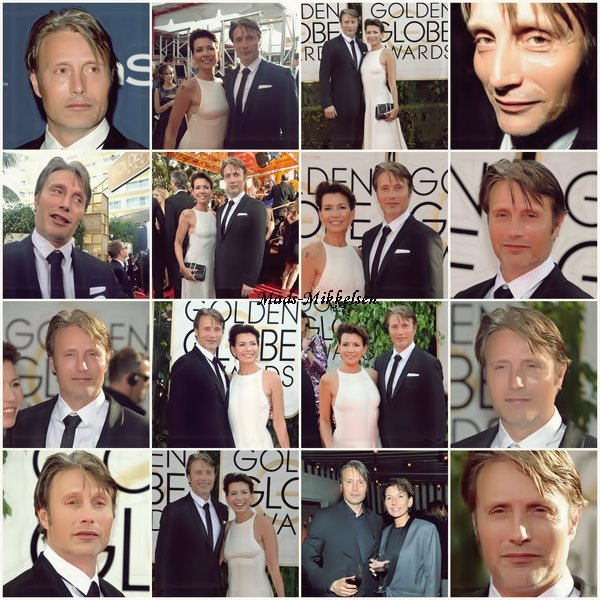 71 éme Annual Golden Globe Awards 2014 (Mads et sa femme)