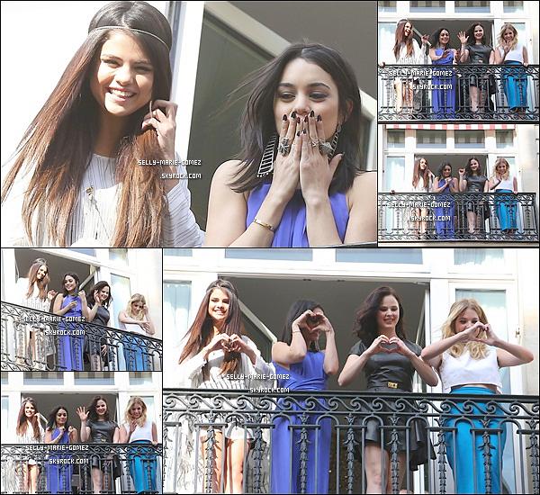 . 17.02.2013 ▬ Selly, Nessa, Rach et Ash ont salués leurs fans sur le balcon de leurs chambres à l'hôtel Bristol. .
