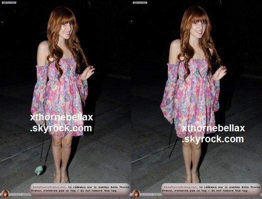 le 14 mai 2011 - Bella sortant du concert Wango Tango