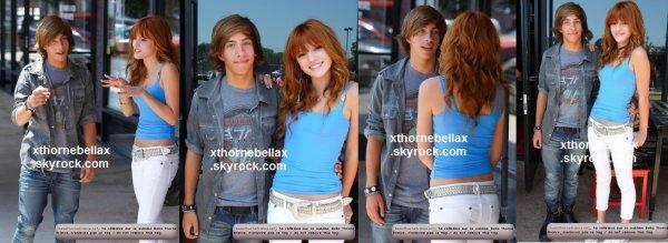 le 30 juillet 2011 - Bella sur le tournage du clip de Jimmy Bennett