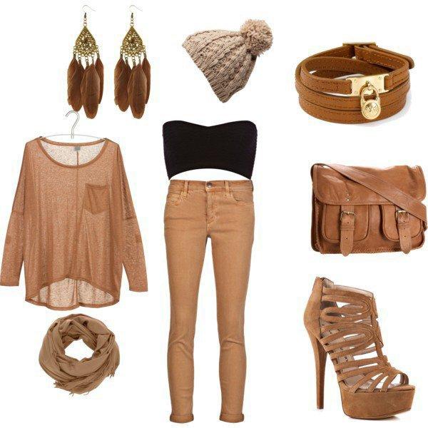 tenue swagg de couleur marron