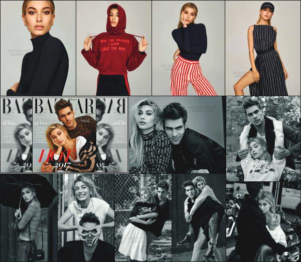 """"""" • Hailey fait la couverture du magazine «  Harper's Bazaar España » Janvier 2017  -"""