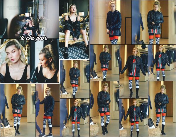 - 07.12.16 ─ Hailey Baldwin est photographiée alors qu'elle faisait du shopping dans les rues de Beverly Hills (CA) ![/s#00000ize]Hailey est bel et bien de retour en Californie après quelques jours passé en Australie, en partie pour la promotion de ModelCo. Je n'aime pas sa tenue...   -