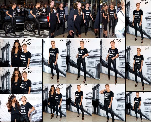 - 18.10.16 ─  Hailey Baldwin était présente à la soirée évènement « Karl Lagerfeld Paris x ELLE » dans New York City[/s#00000ize]Un peu plus tôt, elle est photographiée avant de rejoindre la soirée. Hailey était vraiment très jolie, dans une tenue des plus simples. Un très beau top !  -