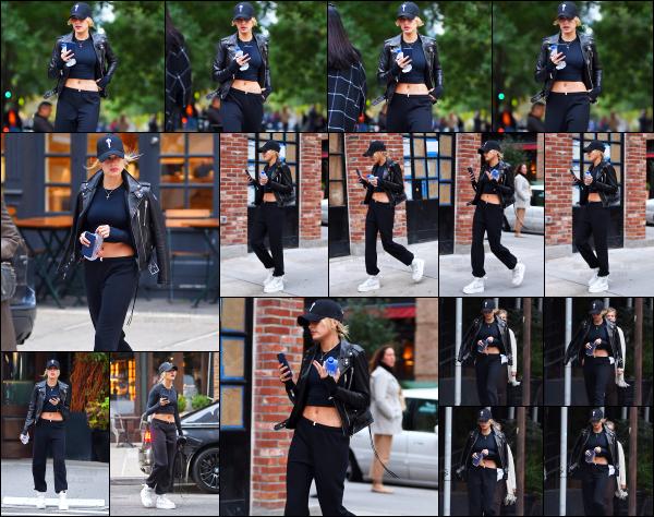 - 13/10/16 - Hailey Baldwin est aperçue alors qu'elle se baladait tranquillement dans les rues de - New York.Hails était cette fois ci seule dans les rues de New York, avec une tenue plutôt sportive je trouve. C'est une jolie sortie pour moi, je lui donne un beau top. -