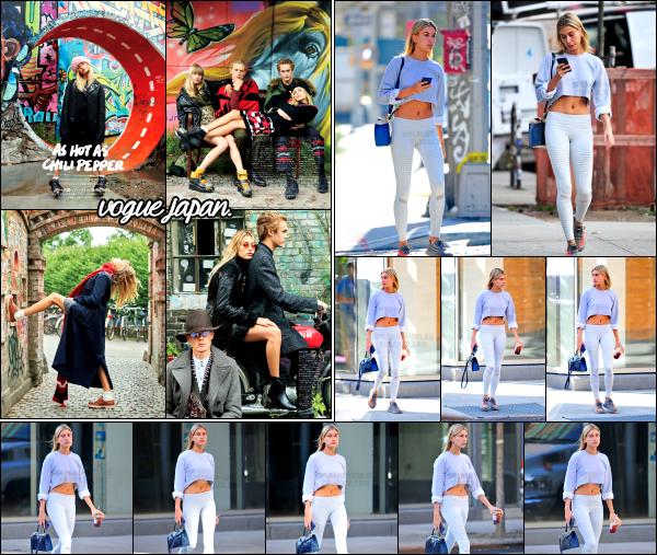 - 19.10.16 ─  Hailey Baldwin est .photographiée ce matin là alors qu'elle se baladait dans les rues de Tribeca - NY ![/s#00000ize]C'est vêtu d'une tenue plutôt sportive que H. est allée se chercher une boisson glacée ce matin là. Hails est dans le Vogue Japan du mois de novembre. -