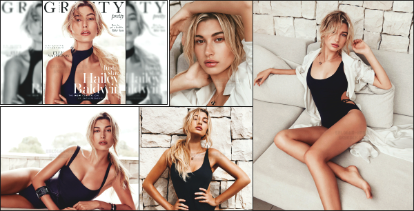 """ • Hailey R. Baldwin à réalisé un photoshoot pour « Gritty Magazine » Summer 2017 !-"