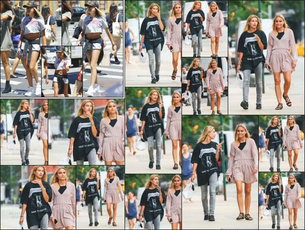 - 19.07.16 ─ Notre Hailey Baldwin est photographiée alors qu'elle se baladait dans les rues de Tribeca à New York ![/s#00000ize]Hailey était donc en compagnie de l'une de ses amis lors de cette petite sortie dans les rues de New York !! Plus tôt, elle est aperçue aussi dans la ville.  -