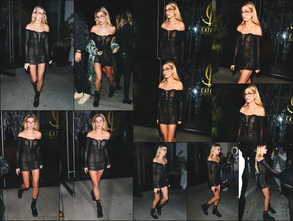 - 30.11.16 ─ Hailey Baldwin est aperçue alors qu'elle se dirigeait vers le restaurant « Catch » dans Los Angeles (CA)[/s#00000ize]Hailey B. est aussi photographiée lorsqu'elle quittait ce même restaurant, un peu plus tard dans la soirée. Je n'aime pas vraiment la tenue qu'elle porte...  -