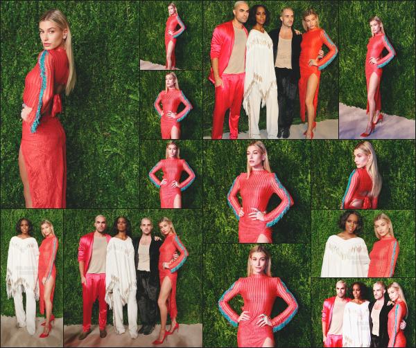 - 07.11.2016 ─ Hailey Baldwin était présente à l'évènement. « CFDA/Vogue Fashion Fund Awards » dans New York ! [/s#00000ize]Je n'aime pas trop le style de sa tenue, surtout la couleur mais je trouve qu'elle lui va quand même très bien. C'est un jolie top pour la belle Hails Baldwin    -