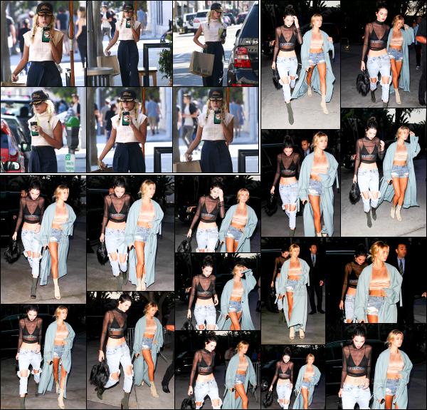 - 06/08/16 - Hailey & Kendall Jenner sont vue alors qu'elle quittait le « Staples Center » à  Los Angeles (CA) ! Hailey et Kendall sont allées voir le concert d'Adèle ce soir ! Plus tôt dans la journée, Hails était aller se chercher une boisson glacée dans les rues de L.A.  -