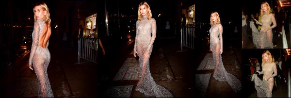 - 09/09/16 - La belle Hailey Baldwin était présente à la soirée  du magazine « Harper Bazar » à -  New York !A la suite de son défilé, Hailey est allée assisté à cet évènement. La robe qu'elle portait est vraiment sublime. + Plus tard, elle est vue quittant la soirée.   -