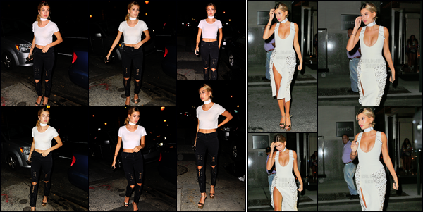 - 11/09/16 - Hailey Baldwin est photographiée à la suite de son défilé, se baladant dans les rues -  New York.Hailey est tout d'abord aperçue dans une jolie robe blanche et c'est ensuite dans une tenue un peu plus street que nous la retrouvons. Un très beau top !  -