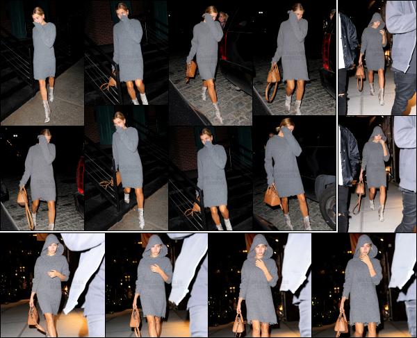 - 13/09/16 - La belle Hails Baldwin est aperçue, alors qu'elle quittait le restau « Mr Chow » à - Tribeca (NY) !Hailey était se soir là accompagnée de son amie, Kendall Jenner. + Le soir même, Hailey Bald. est photographiée, rejoignant l'appartement de Gigi Hadid.    -