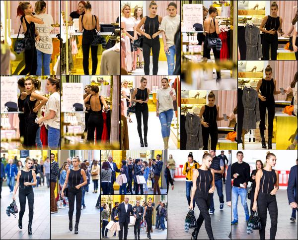 - 17/09/16 -  Hailey Baldwin est aperçue alors qu'elle faisant du shopping dans « House of CB » à  - Londres !Hailey était en compagnie de son bodygard lors de cette séance shopping. J'aime beaucoup le body qu'elle portait en repartant du magasin. Un beau top. -