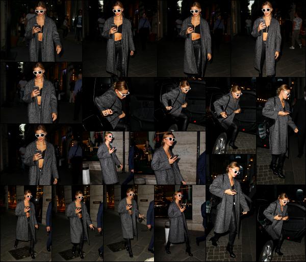 - 25/09/16 - Hailey Baldwin est aperçue à la suite de son défilé, rejoignant son hôtel dans les rues de  Milan.J'aime beaucoup la tenue que portait Hailey, surtout son long manteau qui apporte vraiment quelque chose à la tenue. C'est un très beau top pour moi.   -