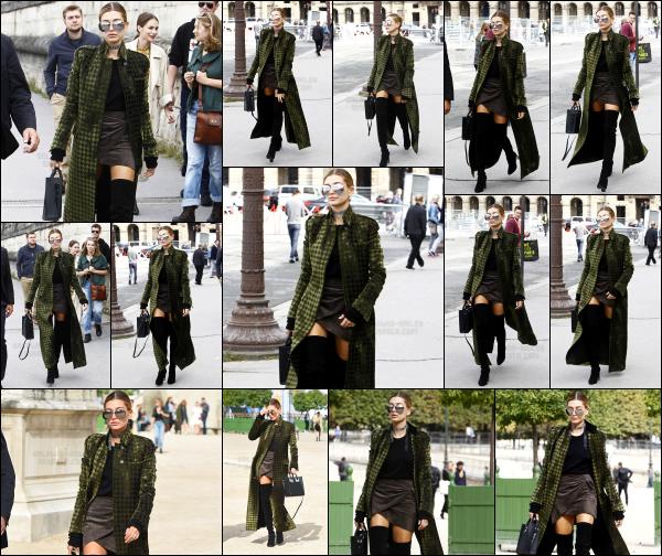 - 01/10/16 - La belle Hailey Baldwin est aperçue alors qu'elle était tranquillement dans les rues de  Paris (FR)Plus tard dans la journée, Hailey à participé au défilé de Elie Saab pour la Fashion Week. Encore un défilé pour la belle Hailey, elle n'arrête plus. Un top !   -